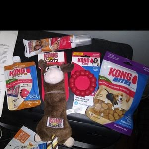 KONG DOG BOX 5 BRAND NEW ITEMS FOR SMALLER DOGS